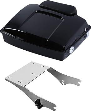 TCMT King Tour Pack Trunk Backrest Luggage Mounting Rack Docking Hardware Metal Base Plate Fit For Harley Touring Road King FLHT FLHX FLTR 1997-2008