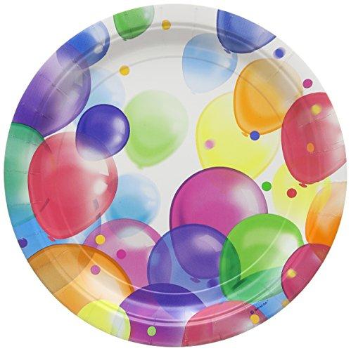 Balloon Fiesta Paper Plates 23cm Pack of 8
