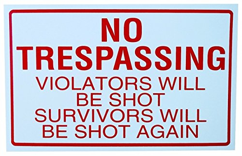 1-Pc Radiant Modern No Trespassing Yard Sign Being Watched Anti-Burglar 24Hr Protection Size 11