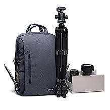 Caden Professional Camera Bag Multifuction WaterProof Shockproof Backpack Laptop Bag Padded Insert For Sony Canon Nikon Olympus Kodah Pentax Panasonic DSLR/SLR for Men/Women for Iphone 6(Large)