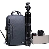 Caden Professional Camera Bag Multifuction WaterProof Shockproof Backpack Laptop Bag Padded Insert For Sony Canon Nikon Olympus Kodah Pentax Panasonic DSLR/SLR for Men/Women for Iphone 6(Large)