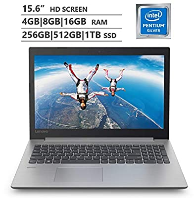 "2019 Lenovo Premium 15.6"" HD Laptop, Intel Pentium Silver N5000 Quad-Core up to 2.7 GHz, 4GB
