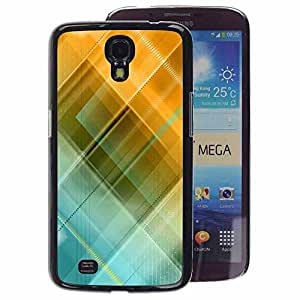 A-type Arte & diseño plástico duro Fundas Cover Cubre Hard Case Cover para Samsung Galaxy Mega 6.3 (Blue Yellow Pastel Pattern)