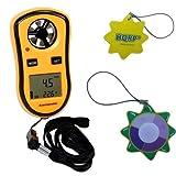 HQRP Digital Pocket Anemometer Wind Speed Meter & Thermometer Handheld Weather Station Beaufort...