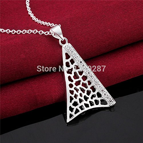 Kiss Love N564 Fashion New Arrival Jewelry 925 Silver Necklace For Women Iron Tower Crystal Pendant Best Christmas Gifts