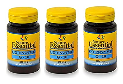 Co-Enzima Q10 30 perlas de 30 mg de Nature Essential (Pack ...