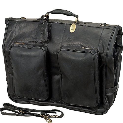 Claire Chase Classic Leather Garment Bag, Suitcase in Black ()