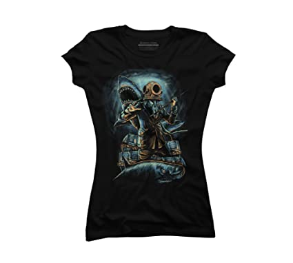 2f2dbcbd9 underwater business Juniors' Small Black Graphic T Shirt - Design By Humans
