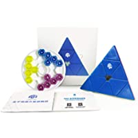 GAN Pyraminx 60 Magnets, Speed Magnetic Pyramid Puzzle Stickerless Triangle Cube GES+(Enhanced)