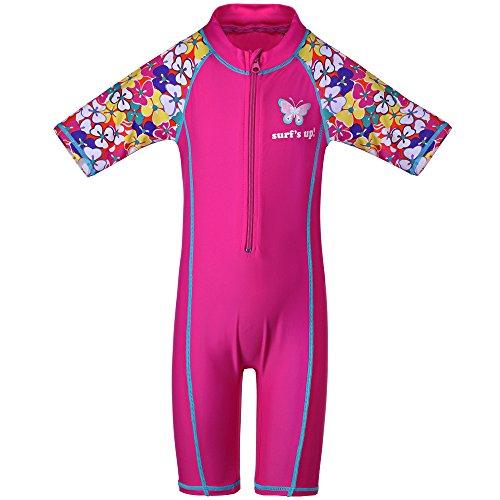 TFJH E Girls Swimsuit UPF 50+ UV One Piece Swimwear HotPink C 92/98