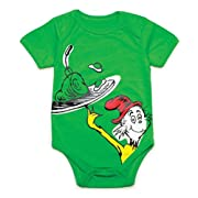 Unisex-baby Newborn Dr. Seuss The Green Eggs Graphics Short Sleeve Bodysuit (3M)