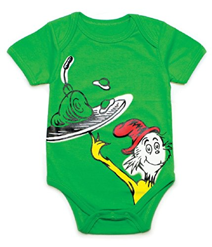 - Unisex-baby Newborn Dr. Seuss The Green Eggs Graphics Short Sleeve Bodysuit (3M)