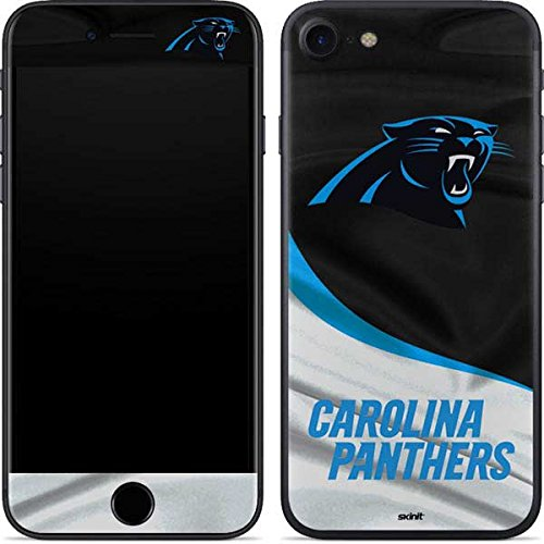 (Skinit Carolina Panthers iPhone 7 Skin - Officially Licensed NFL Phone Decal - Ultra Thin, Lightweight Vinyl Decal Protection)