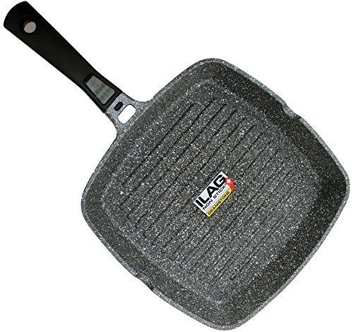 Non Stick Oven Safe Grill Pan - Coninx Grill Pan With Detachable Handle | 100% PFOA Free Square Griddle Pan | Nonstick Cookware for any Heat Source including Induction and Oven | 11-inch | Dishwasher Safe