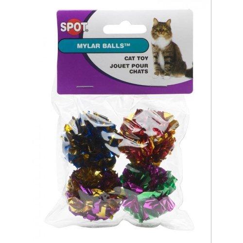Spot Mylar Balls Cat Toys Size:Pack of 12