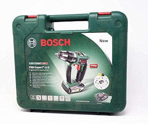Ladeger/ät Bosch PSB Expert Li-2 Ergonomic Akkuschrauber 18V 2,5 Ah Akku