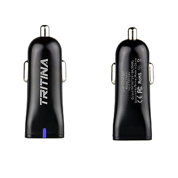 Tritina Cargador de Carga Rápida Cargador USB 5v / 9v / 12v Anti-fuego Shell para Samsung S6, s6 Plus, otros teléfonos móviles Qualcomm (Negro)