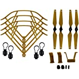 BTG Part Kit for DJI Mavic Pro RC Drone: Propellers + Quick Release Propeller Guards + Landing Gear (Color: Brown)