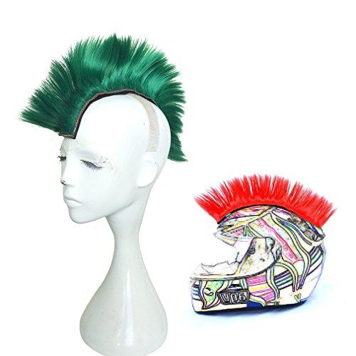 Namecute Skinhead Green Wig Punk Helmet Mohawk Wig Costumes Hairpiece -