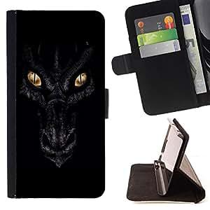 - Dragon Eyes Night Black Scales Gold - - Prima caja de la PU billetera de cuero con ranuras para tarjetas, efectivo desmontable correa para l Funny HouseFOR Sony Xperia M2