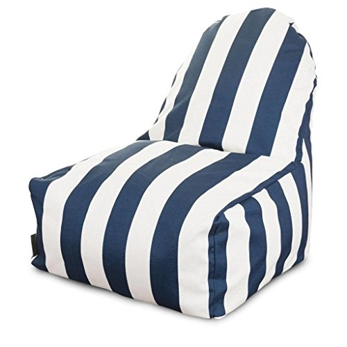 Majestic Home Goods Kick-It Chair, Vertical Stripe, Yellow by Majestic Home Goods (Image #3)