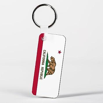 California Republic Flag Illustration Key Ring