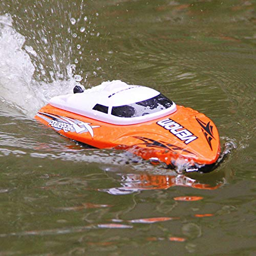 Cheerwing RC Racing Boat for Adults - High Speed Electronic Remote Control Boat for Kids (Orange+White)