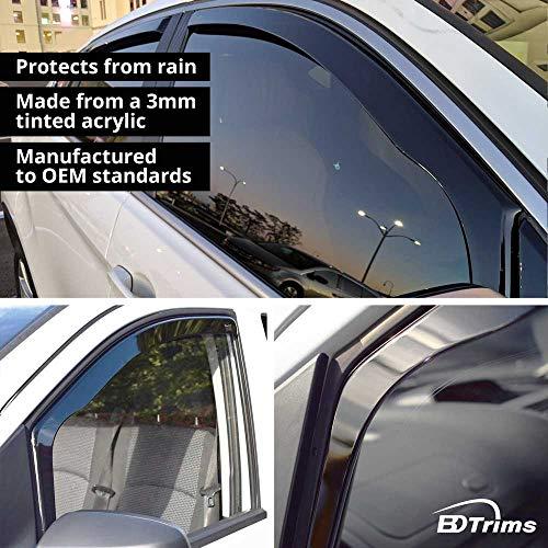BDTrims   Deflectores de Ventana para BMW Serie 3 E46 1998-2007 Viseras de protección contra la Lluvia