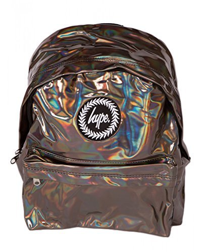 Hype Holografisch Kaffee Rucksack Tasche - Ideal Schultaschen - Rucksack für Jungen und Mädchen