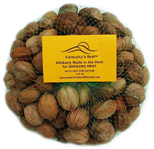 Kentucky's Best Hickory Nuts in The Shell, 3.5 Lbs. for Smoking Meat (Not Eating Nuts)