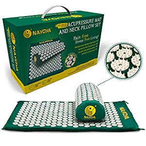 Gut Health Shop 51Sb0UFI%2B7L._SS300_ at-Home Neck and Back Pain Relief - Acupressure Mat and Neck Pillow Set - Relieves Stress and Sciatic Pain for Optimal…