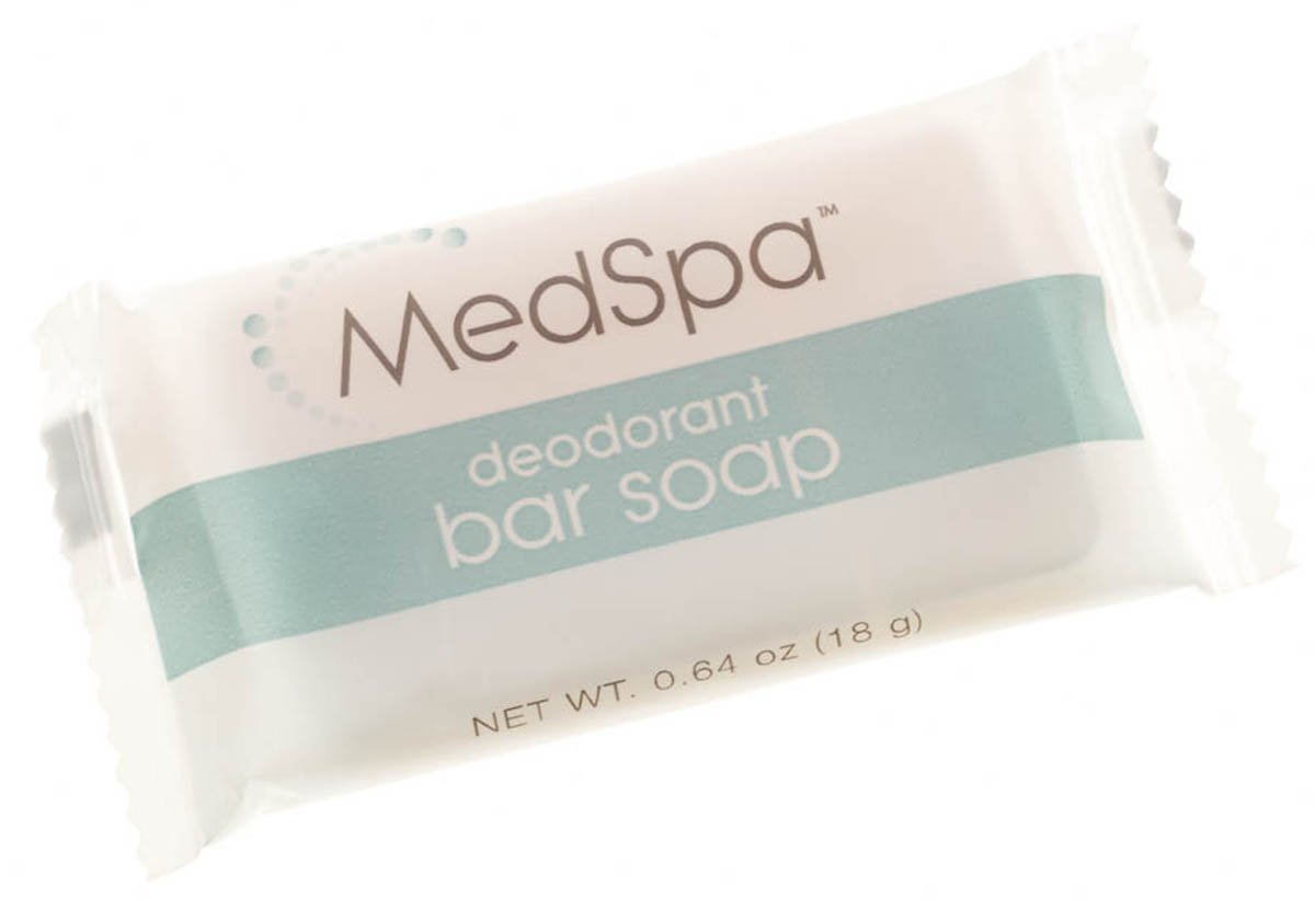 Medline MPH18207 MedSpa Deodorant Bar Soap, 0.64 oz (Pack of 800) by Medline
