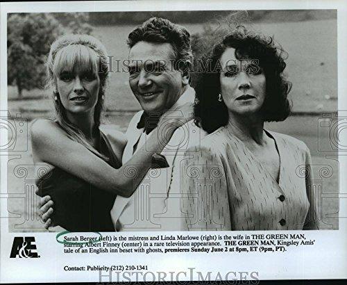 1991 Press Photo Sarah Berger, Albert Finney, Linda Marlowe in