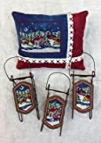 img - for Small Sleds-Mini Village Cross Stitch Chart and Free Embellishment book / textbook / text book