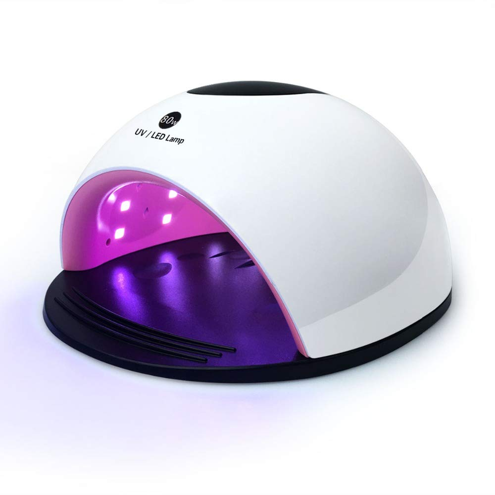 80W UV LED Nail Lamp Dryer for Fingernail & Toenail Gel Nail Polishes Professional Nail Dryer with Sensor and 4 Timer Settings … (white)