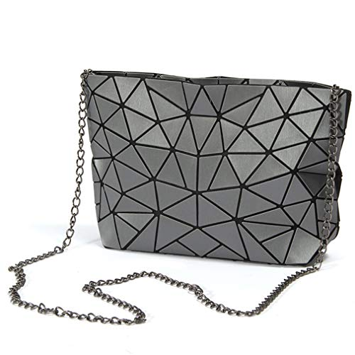 Clutch Chain Bag Gray Color Bag Messenger Chain Ladies Color ZqwtESH