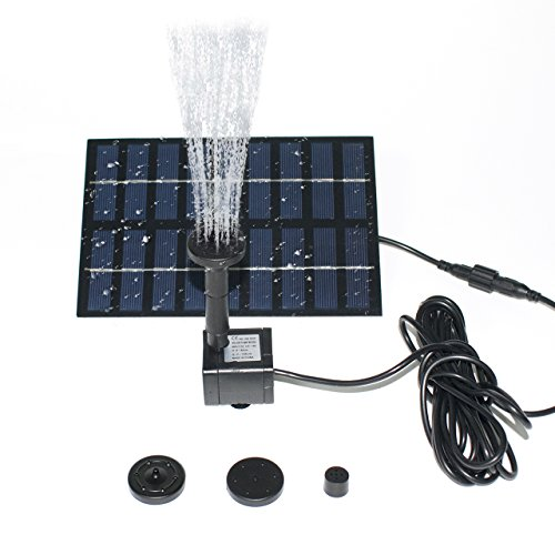 ROADTEC Solar Fountain Pump for Birdbath, 1.8W Solar Powered Water Pump Panel Kit for Garden and Patio, Garden and (Autumn Pond)