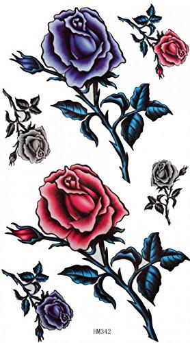 King Horse Männer und Frauen sexy Tattoo-Aufkleber wasserfester Farbe Rosen ultimative Verschönerung