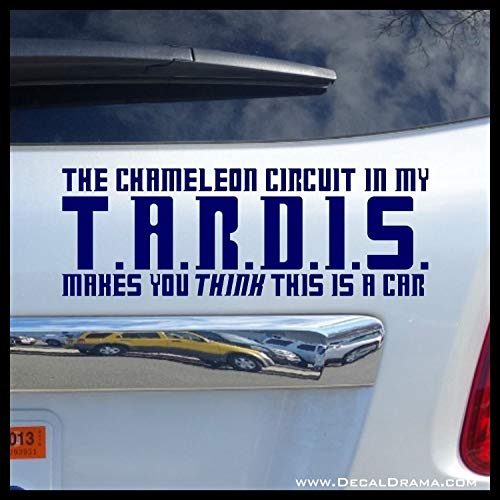 The chameleon circuit in my TARDIS (Car, Truck, Van, Jeep, SUV, RV) Vinyl Car Decal (Circuit Jeep)