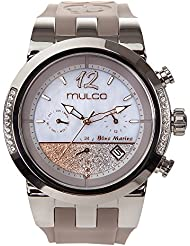 Mulco Blue Marine infinity Quartz Multifuncion Movement Womens watch | Mother of Pearl Sundial Rose Gold Accents...