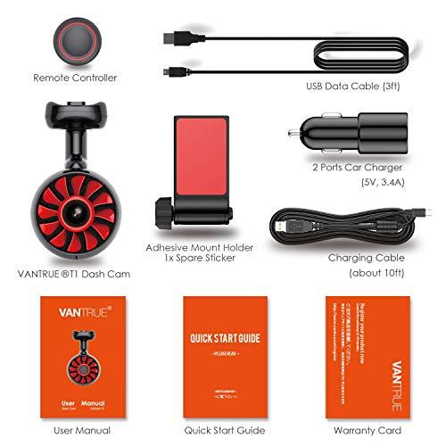 Vantrue T1 Wi-Fi Super Capacitor GPS Dash Cam Deals, Coupons & Reviews