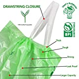 Biodegradable Compostable Drawstring Trash Bags