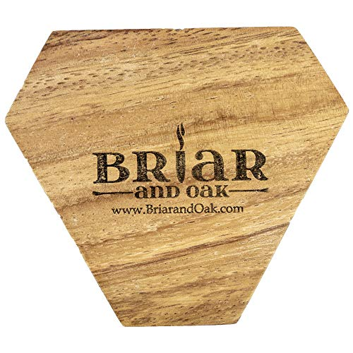 Wooden Cigar Ashtrays– The Mayan Line- 4 Styles to Choose from- Handmade Carved Wood Design Made in Central America by Local Artisan Craftsman- Great Cigar Accessories Gift for Men- Three Slot by Briar and Oak (Image #4)
