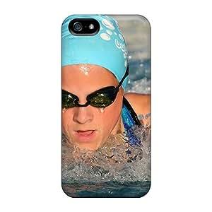 Excellent Design Swimming Glasses Phone Case For Iphone 5/5s Premium Tpu Case