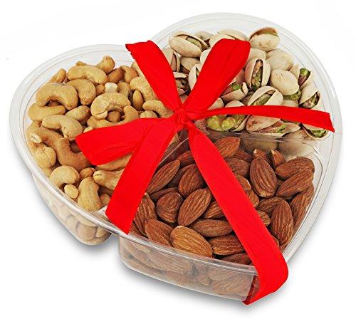 NUT-O-BRO Gourmet Heart Shaped Variety Nuts Holiday Food Gift Basket
