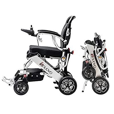 Innuovo Intelligent lightweight foldable Electric Wheelchair, Compact (Net Weight 50 lbs) Power wheelchair, Portable Folding Carry Motorized Wheelchairs, Durable Wheelchair