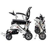 Innuovo Intelligent lightweight foldable Electric Wheelchair, Compact (Net Weight 50 lbs) Power Chair, Lightweight Folding Carry Electric Wheelchairs, Durable Wheelchair