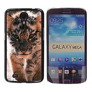 FlareStar Colour Printing Tiger Cub Roar Cute Puppy Animal Furry cáscara Funda Case Caso de plástico para Samsung Galaxy Mega 6.3 / i9200 / SGH-i527