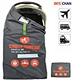 Beschan Standard or Double/Dual Stroller Gate Check Bag XL Travel Bag Foldable for Airport, Airplane Gate Check, Car Trips