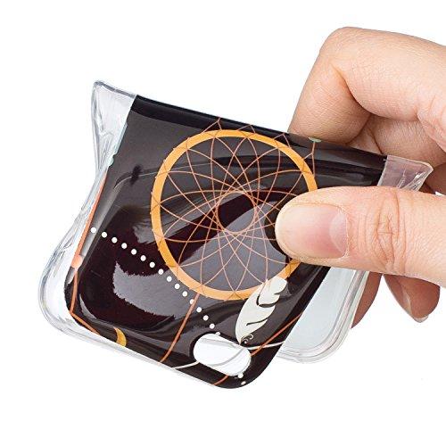 Voguecase® für Apple iPhone 5C hülle, Schutzhülle / Case / Cover / Hülle / TPU Gel Skin mit Nachtleuchtende Funktion (Campanula Feder 18) + Gratis Universal Eingabestift